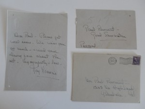 "A letter to ""Paul""--most likely someone from the ""When the Daltons Rhode"" set."
