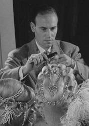 Working on the wigs for Marie Antoinette, a 1938 Norma Shearer film.