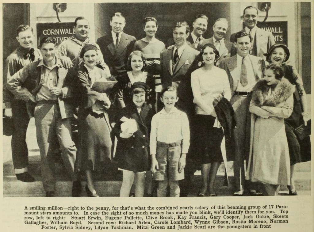 1930 on the Paramount lot with contract stars.