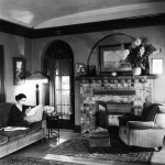 1930 at home reading.