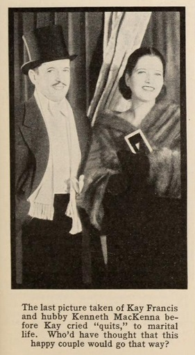 In 1934 with Kenneth MacKenna.