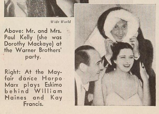 1935 with Harpo Marx & William Haines