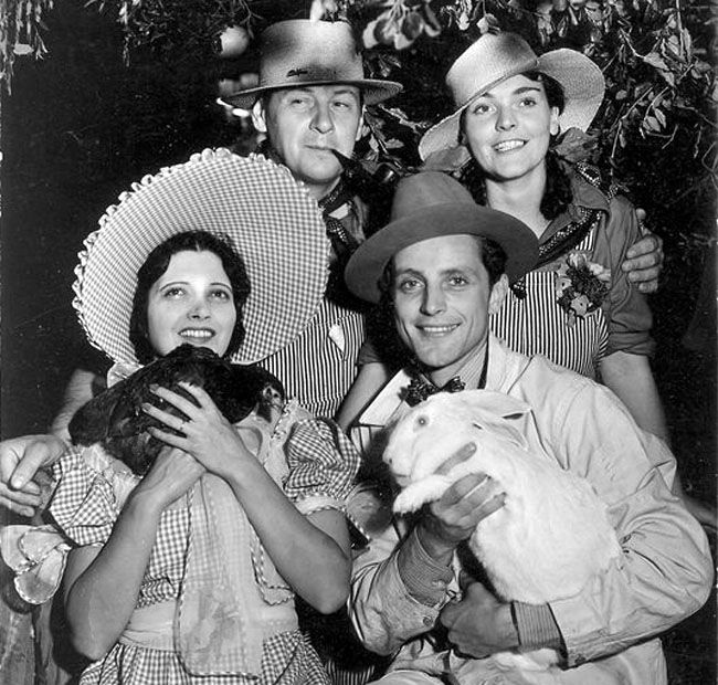 With director Richard Boleslawski, his wife Norma Drury and unknown man in 1935.