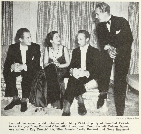 In 1935 with famous friends.