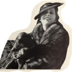 "1937 with ""Sniffer,"" her dachshund."