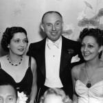 1937 at the wedding of Virgina Bruce with Jack Warner & his wife.