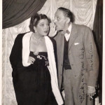 With Mischa Auer in the 1950s.