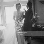 In 1945 at Carole Landis' wedding.