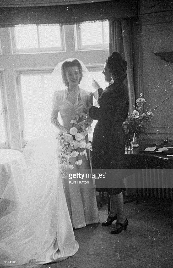 In 1945 at Carole Landis' wedding.