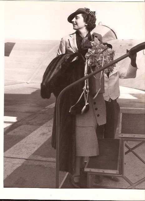 In 1935 travelling abroad.
