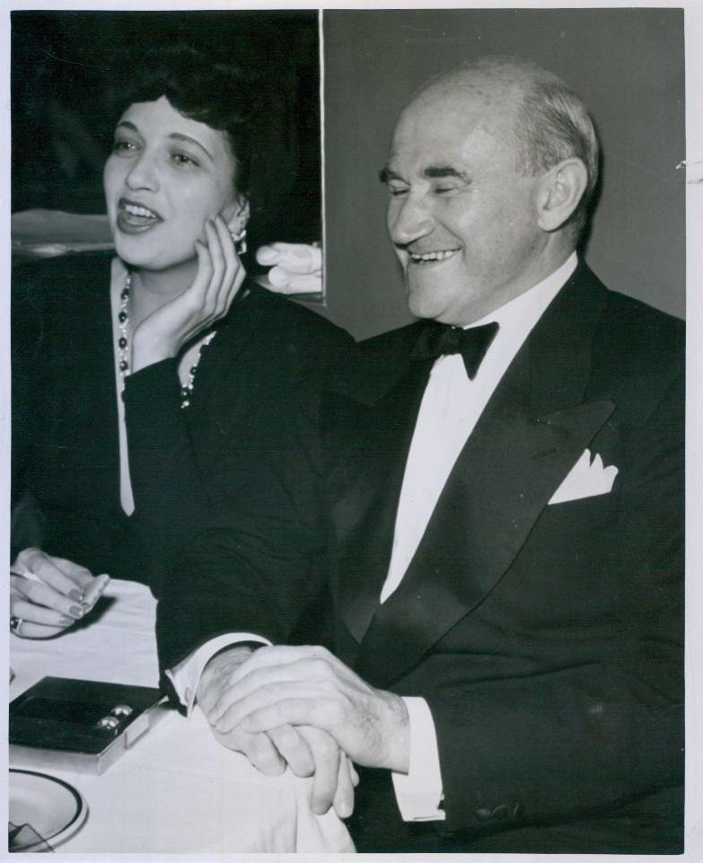 In 1941 with Samuel Goldwyn.
