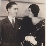 1929 on the Paramount lot with unknown man.